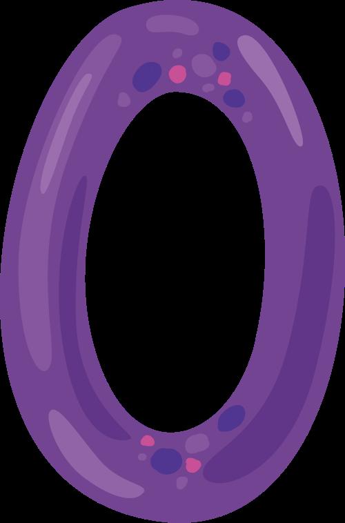 紫色字母O可爱动物logo设计素材