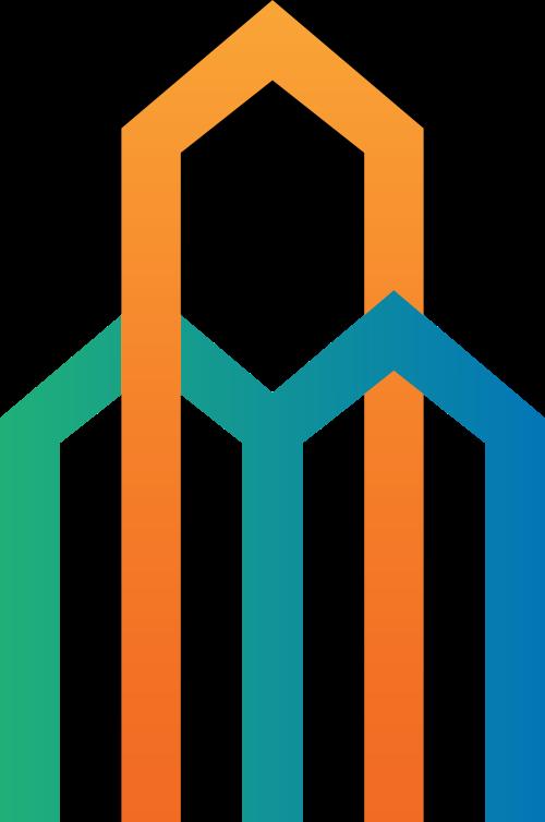 彩色高楼房屋矢量logo图片