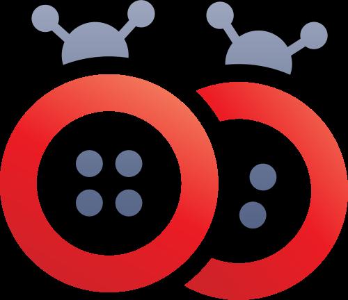 两只瓢虫卡通矢量logo图标