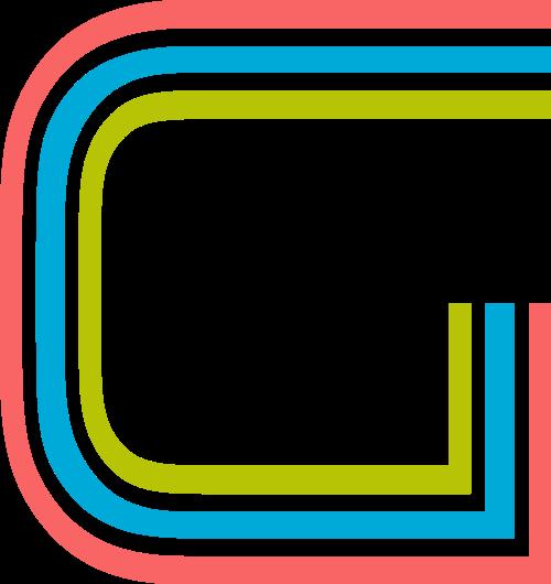 字母G三色矢量标志图片