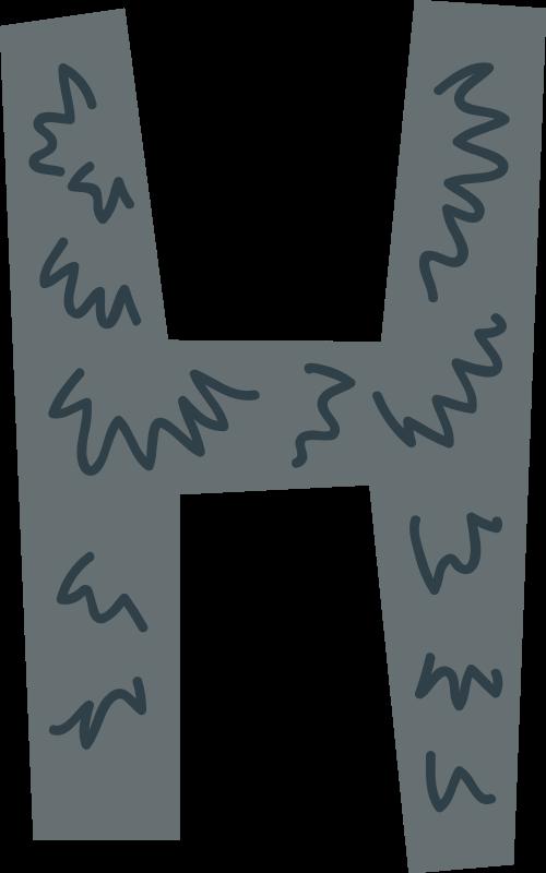 刺猬字母H可爱动物矢量logo图标