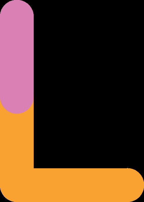 字母L双色矢量logo图标