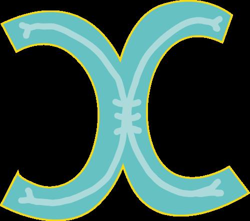 蓝色字母X矢量logo图片