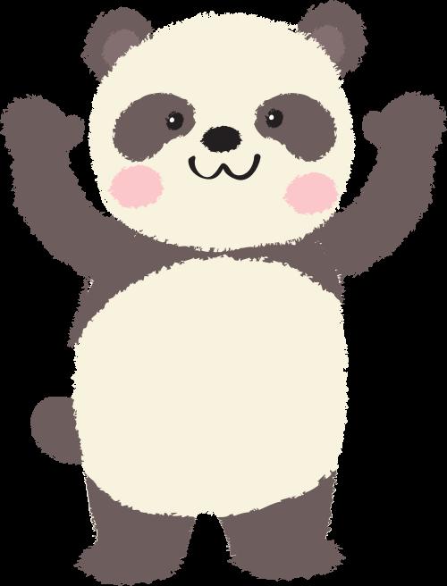 可爱儿童卡通熊猫矢量logo图标
