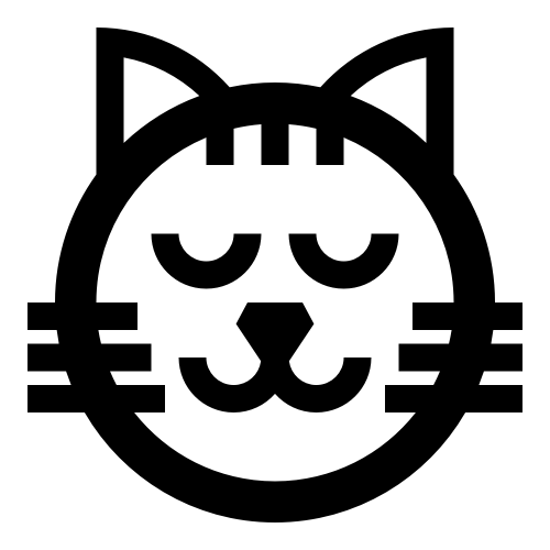 卡通猫咪头像睡觉矢量Logo素材