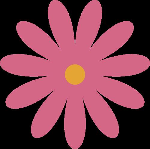 粉色自然小野花矢量logo素材
