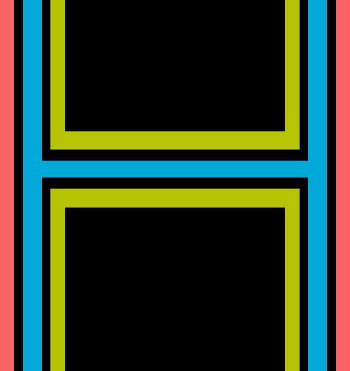 字母H三色矢量标志图片