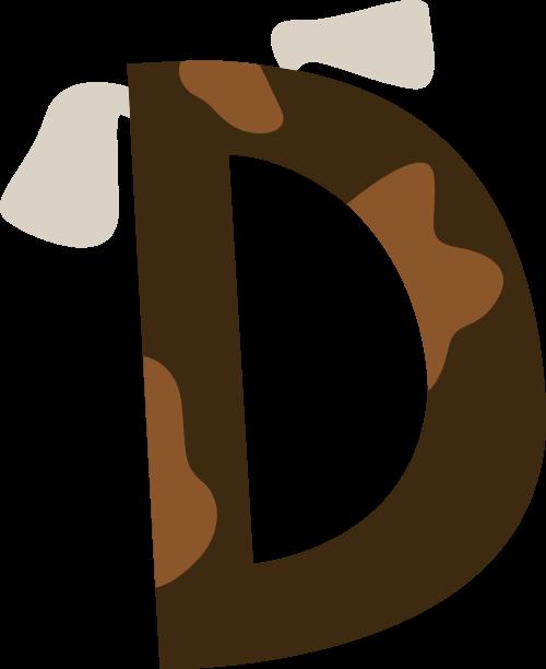 小狗字母D可爱卡通动物logo素材图片
