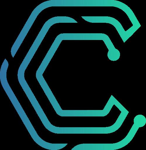 蓝绿渐变字母C线条矢量logo图片
