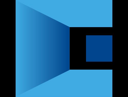 三维字母C立体建筑空间感Logo图标