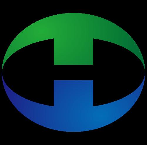 圆形字母H矢量logo