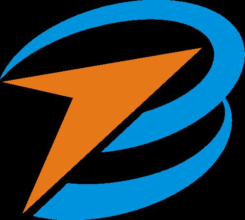 字母B箭头向上矢量Logo图标