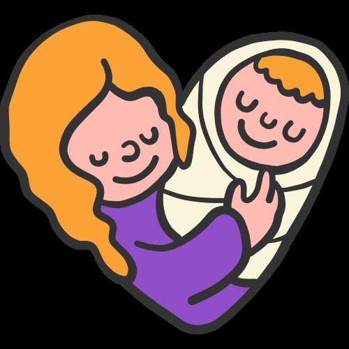 母亲婴儿宝宝卡通矢量Logo素材