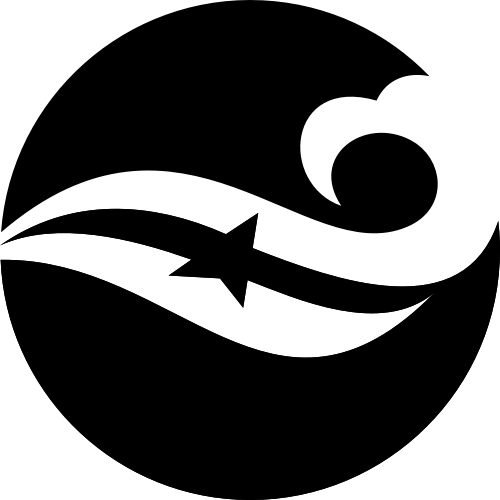 圆形抽象浪花矢量图标