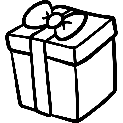 生日礼物礼盒矢量图标矢量logo