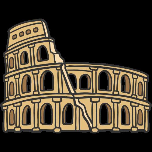 古希腊脚斗士历史建筑图标