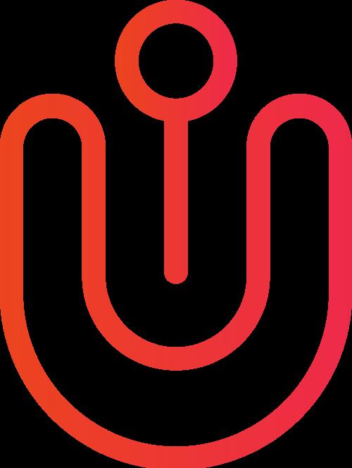 红色u形矢字母U矢量图标