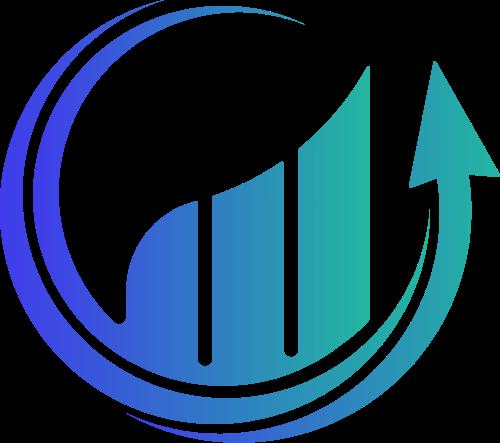 蓝绿色圆形箭头商务矢量图标