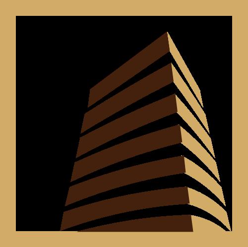 金色建筑大楼矢量图形