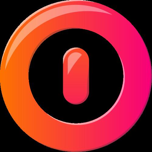 彩色圆形开关按钮矢量图形