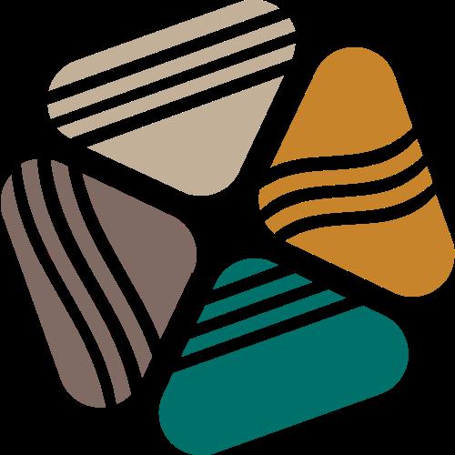 彩色四方形矢量图形