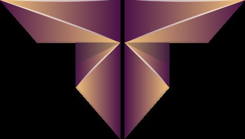 字母T军队勋章矢量图形