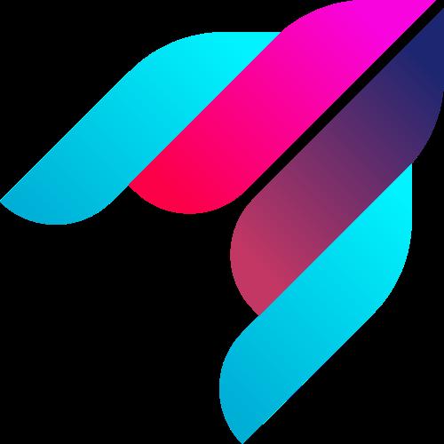 彩色抽象火箭矢量图形