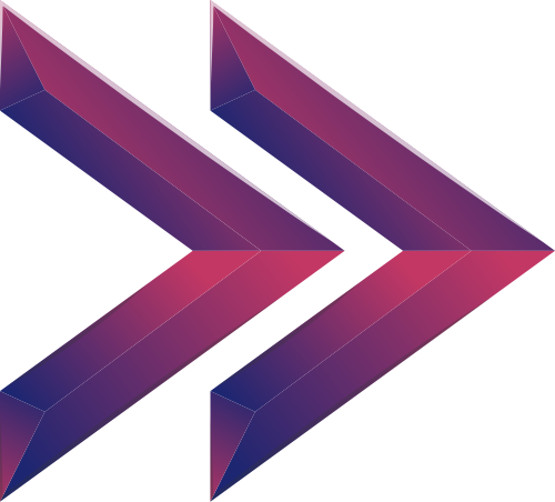 紫色渐变立体箭头矢量图形