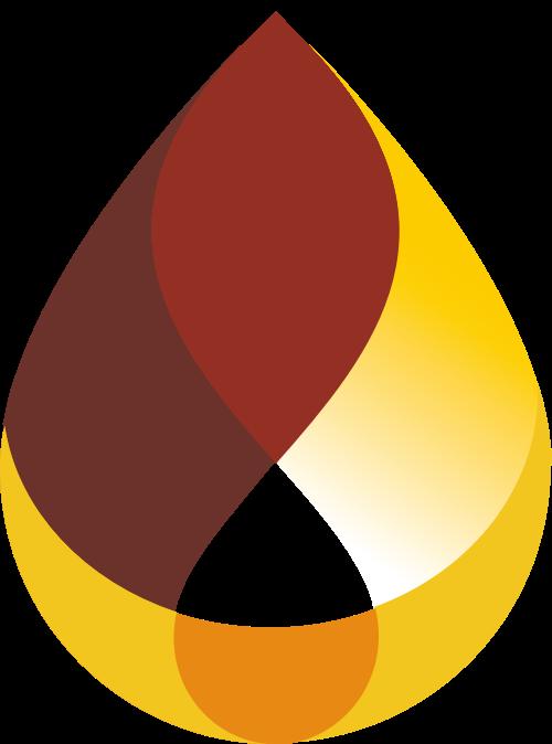 石油水滴形状矢量Logo图标
