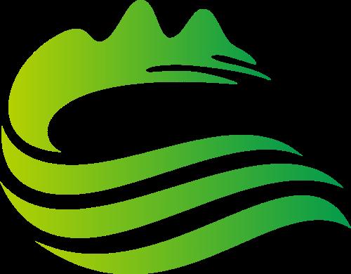 山水绿色环保生态Logo图标