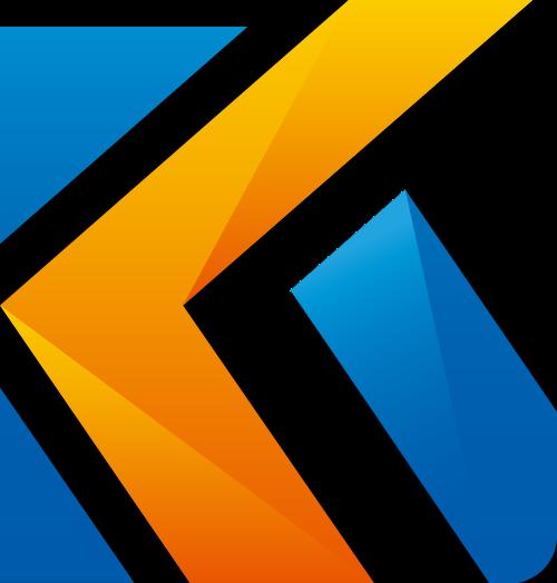 字母K抽象矢量Logo图标素材