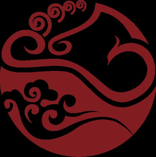 中国风凤凰图案Logo素材
