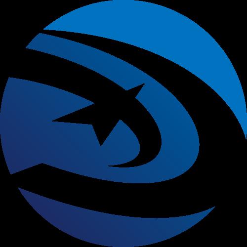圆形抽象飞鸟矢量Logo图标