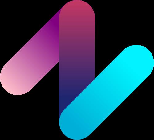 彩色字母N矢量图形