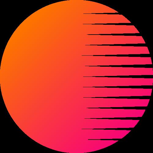 橙色太阳圆形矢量图形