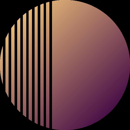 紫黄色渐变分割圆形矢量图形