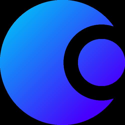 蓝色月亮矢量图形