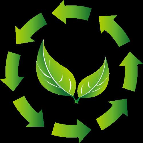 绿色环保循环矢量图形
