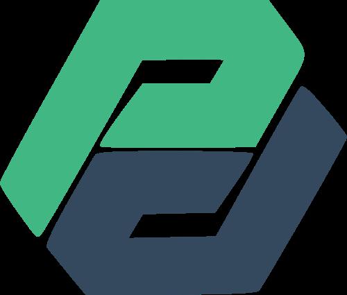 字母P抽象矢量图形
