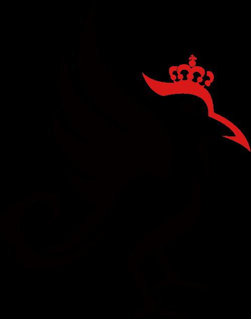啄木鸟高贵皇冠服装商标素材