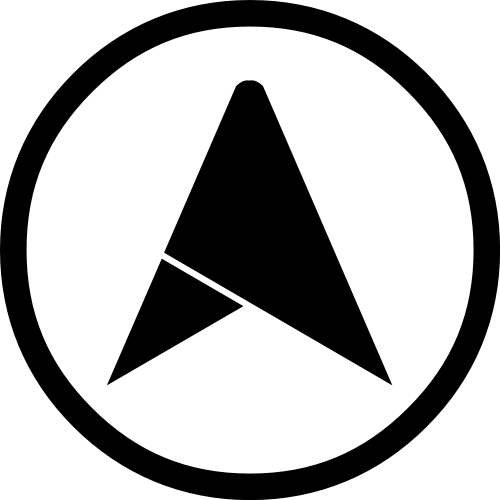 圆环包含三角形箭头矢量图形