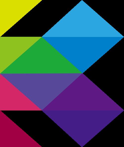彩色字母K矢量logo素材