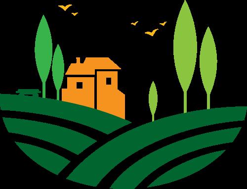 彩色田园风光矢量logo素材