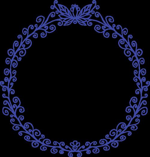 圆形女性婚庆花环矢量图形