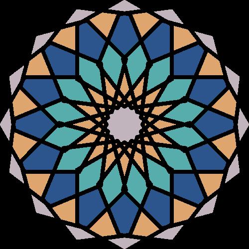 珠宝钻石圆形拼接矢量logo素材