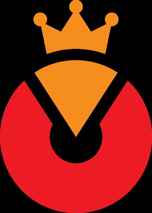 皇冠字母O矢量logo图标
