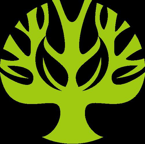 绿色大树logo图标素材