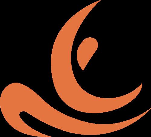 人物瑜伽造型矢量logo图标