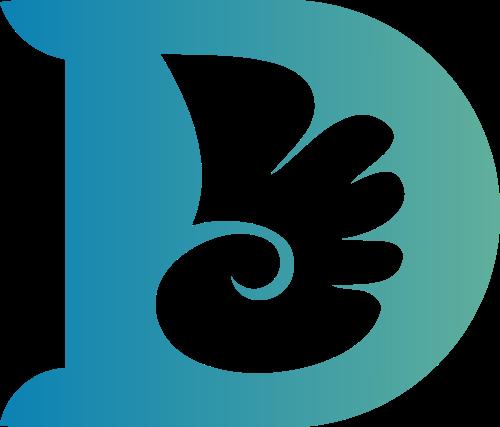 字母D与小天使logo图标