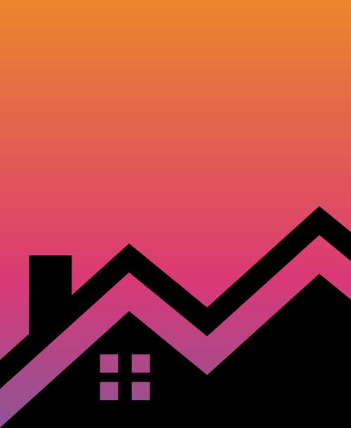 橙色屋顶房子装修矢量logo图标